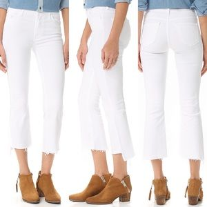 NEW • MOTHER • Insider Crop Step Fray Jeans Glass
